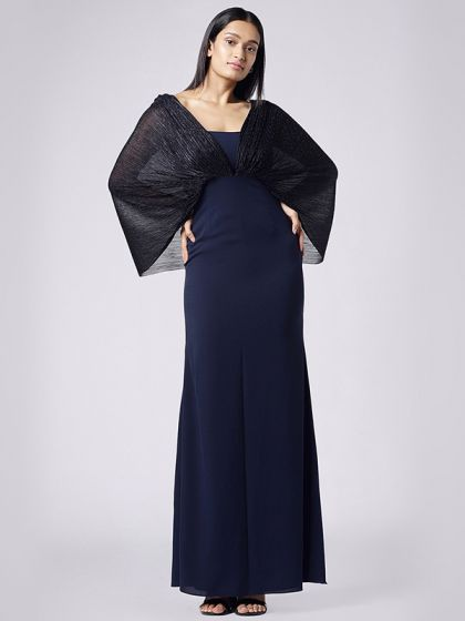 Sheer Cowl Gown